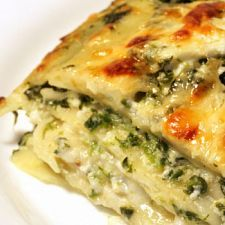 Enjoy some lighter Italian fare with this vegetable lasagna that's chock full of goodness. Prepared with low-fat ingredients and no red sauce, it is a delicious deviation from the norm.  Vegetable Lasagna Recipe