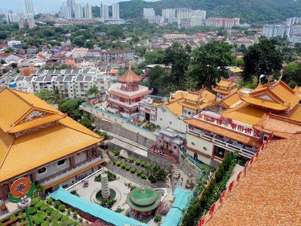 Templo de Kek Lok Si en las afueras de Georgetown en Malasia