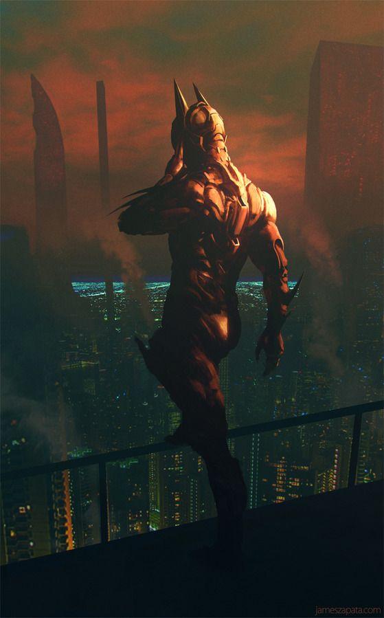 Batman Beyond by James Zapata. Love the Blade Runner-esque look.