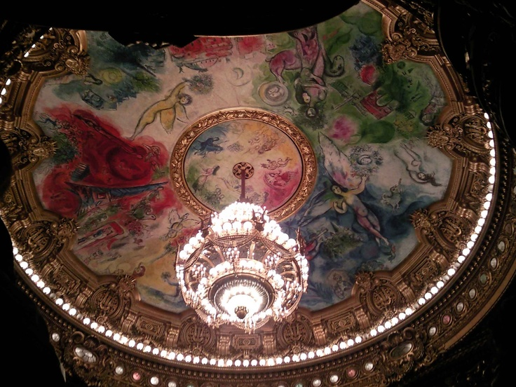 Amazing ceiling dome by Marc Chagall at Palais Garnier, the Opéra de Paris. photo : isacolo