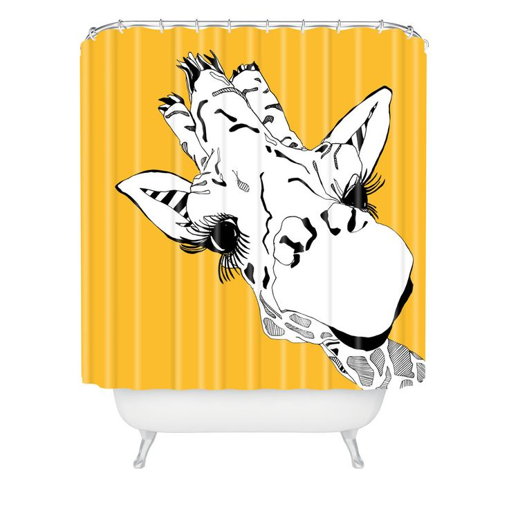 Casey Rogers Giraffe Yellow Shower Curtain | DENY Designs Home Accessories
