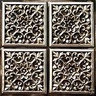 #109 Antique Silver TIN Alternative PVC Ceiling Tiles