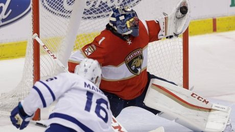 Mitch Marner ends goaltender duel with Panthers in shootout