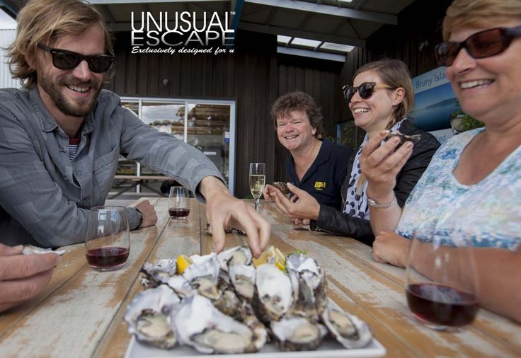 Bruny Island Travelers Oyster tasting at get shucked