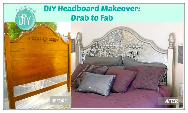 SUPPLIES - One donated Headboard $FREE - 2/3 full length door mirrors $5.99 - (1) can of Nickle Satan Spray Paint $3 - (1) Plastic Putty Knife - (1) can of D...