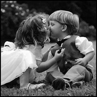 First romantic kiss