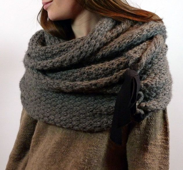 42 Best Scarf And Wrap Knitting Patterns Images On Pinterest