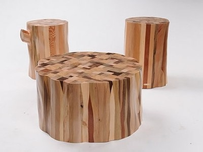 From Scrap To Stylish Stump: Recycled Timber Furniture By Ubico Studio