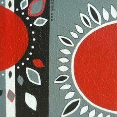 """Tableau moderne acrylique """"rosaces effeuillées""""  http://www.alittlemarket.com/boutique/art_monize31-48246.html"""