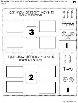 INTERACTIVE MATH NOTEBOOK FOR KINDERGARTEN {UNIT 1: NUMBERS 1-5} - TeachersPayTeachers.com