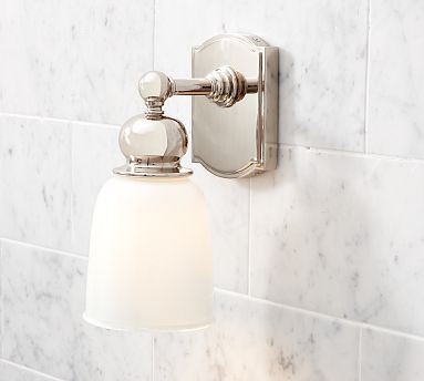 Best Lighting Fixtures Bath Images On Pinterest Wall Sconces - Single sconce bathroom lighting