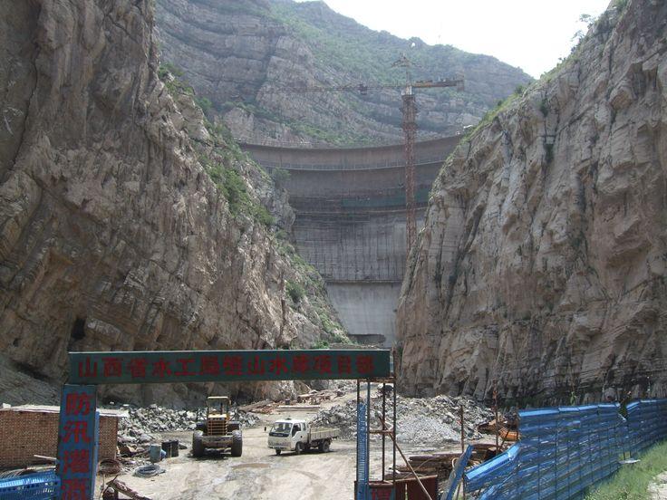 dam above the hanging monastery near Datong, China