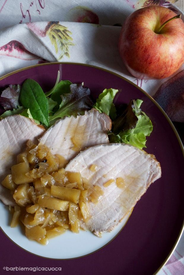 Barbie Magic Chef - cooking blog: pork loin with apples