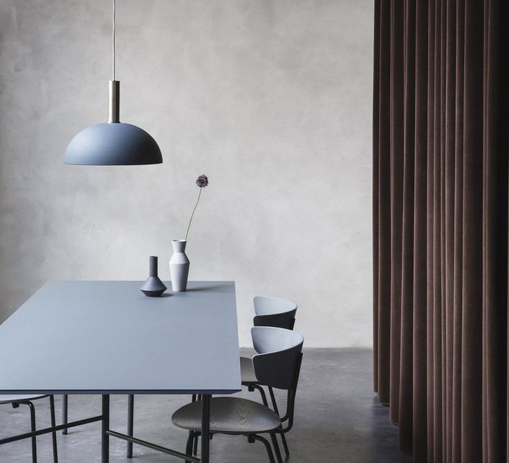 Dome shade suspension pendant light ferm living nedgis blue lamp lighting