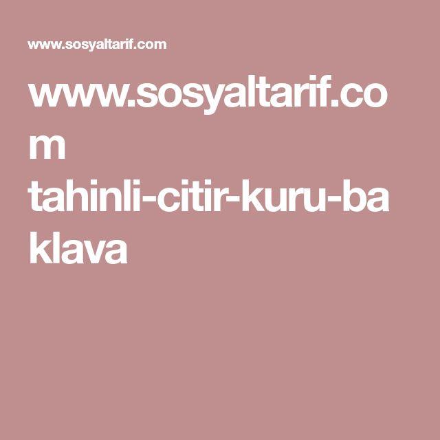 www.sosyaltarif.com tahinli-citir-kuru-baklava