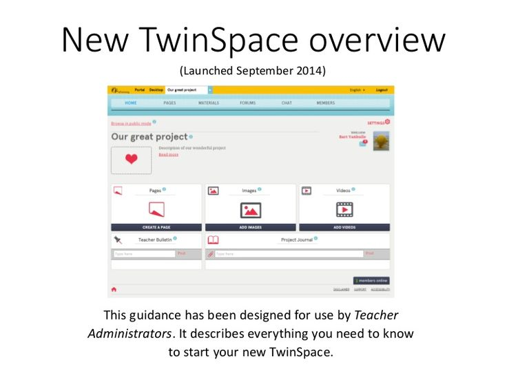 New Twinspace: work your eTwinnig projects safely.