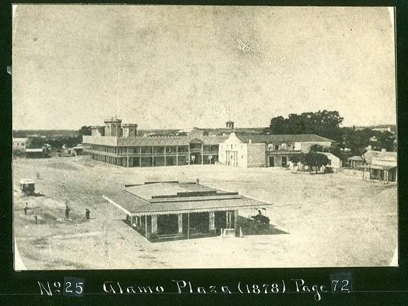 Alamo Plaza, San Antonio, Texas 1878