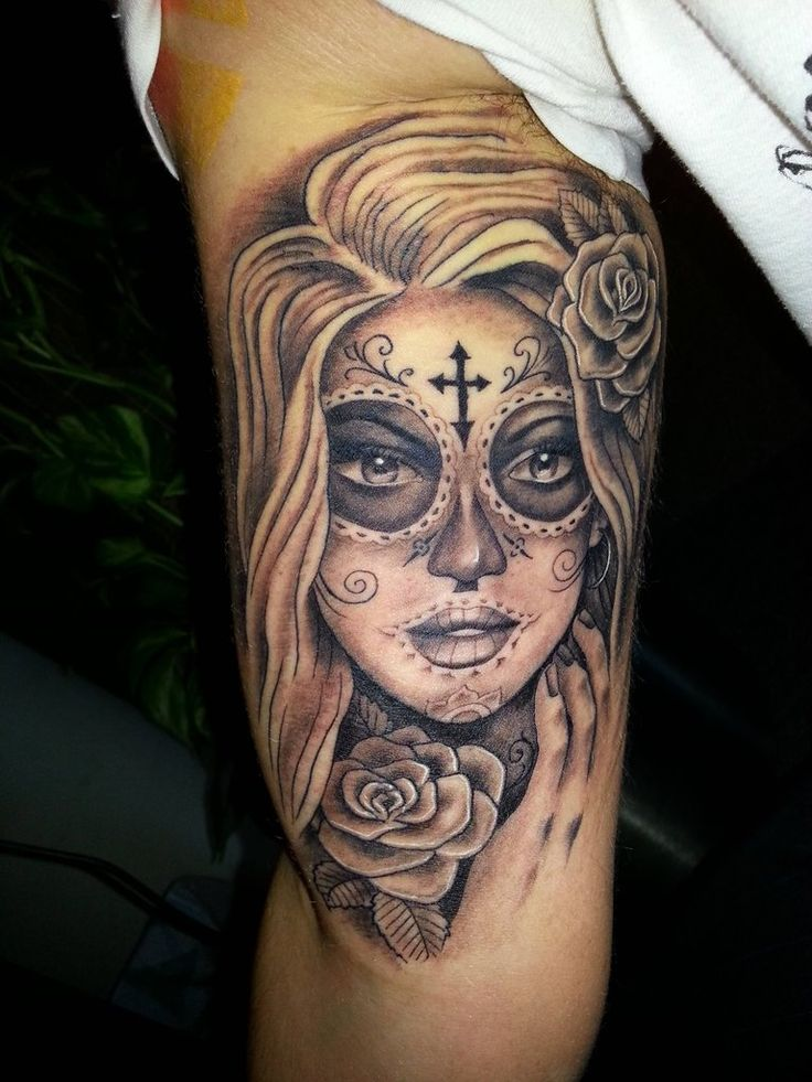 Sugar Skull Mask - Bone Deep Tattoos, South Africa