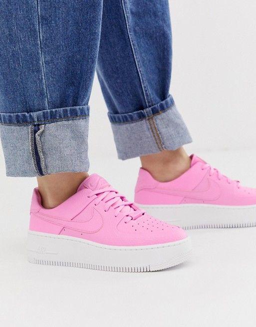 nike pink air force 1 sage low sneakers