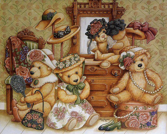 Vintage Teddy Bears by Nita Showers