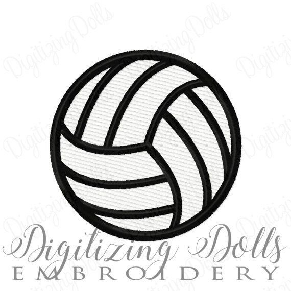 Digitizing Dolls Volleyball Solid Fill Machine Embroidery Design 1x1 2x2 3x3 4x4 Volley Ball Machine Embroidery Designs Machine Embroidery Embroidery Designs