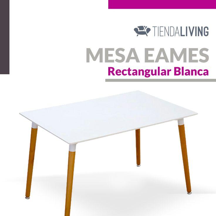 Mesa Eames rectangular blanca