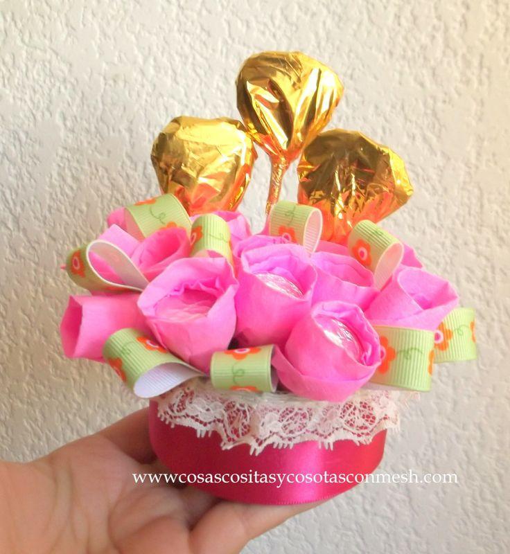 ideas para regalos con flores | Ideas en manualidades para el día de la madre