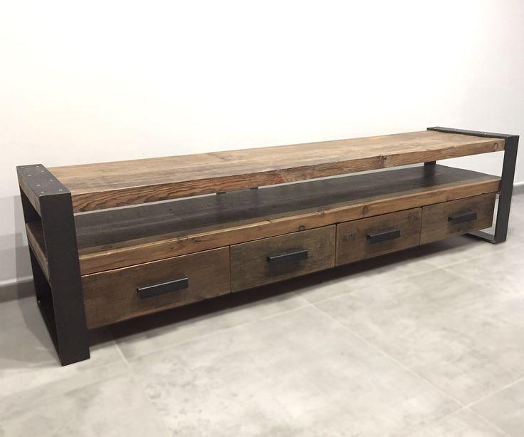 Mejores 59 im genes de mesas auxiliares estilo industrial for Cajonera estilo industrial