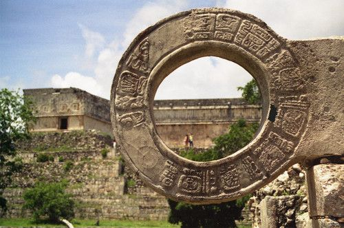Ballcourt, Uxmal, Mexico. The Mayan ruins here are so amazing.