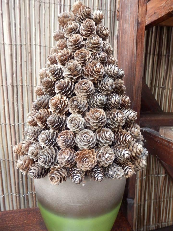 Arbol con pi as ideas pinterest - Adornos de navidad hechos con pinas ...