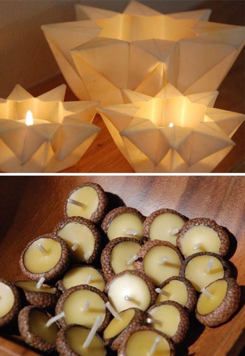 floating acorn candle! super cute!