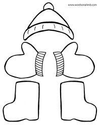 thomas snowsuit coloring page hat gloves boots thomas 39 snowsuit pinterest robert