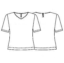 「tシャツ 型紙 レディース」の画像検索結果