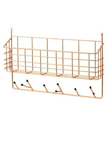 Mitten Shelf in copper
