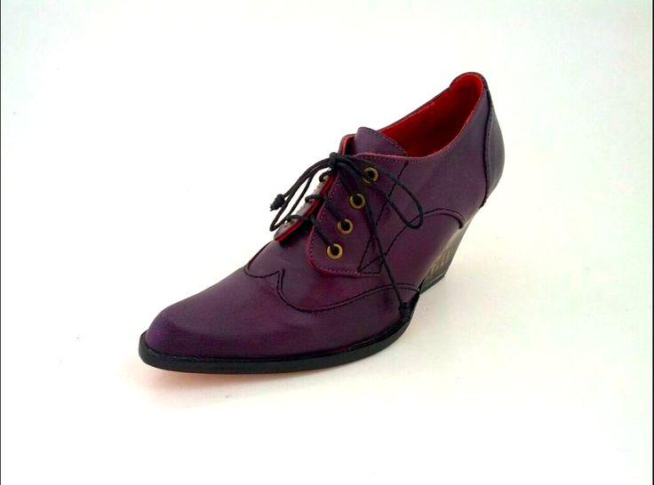 ANUSHKA Bespoke Lace up in Violet Leather #prestonzlydesign #classics #violet #purple #purpleshoes #bespokeshoes #fashion #fashionista #fashionforward