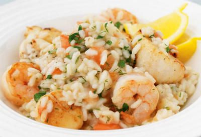 Seafood Risotto Willing to try this without the squid!