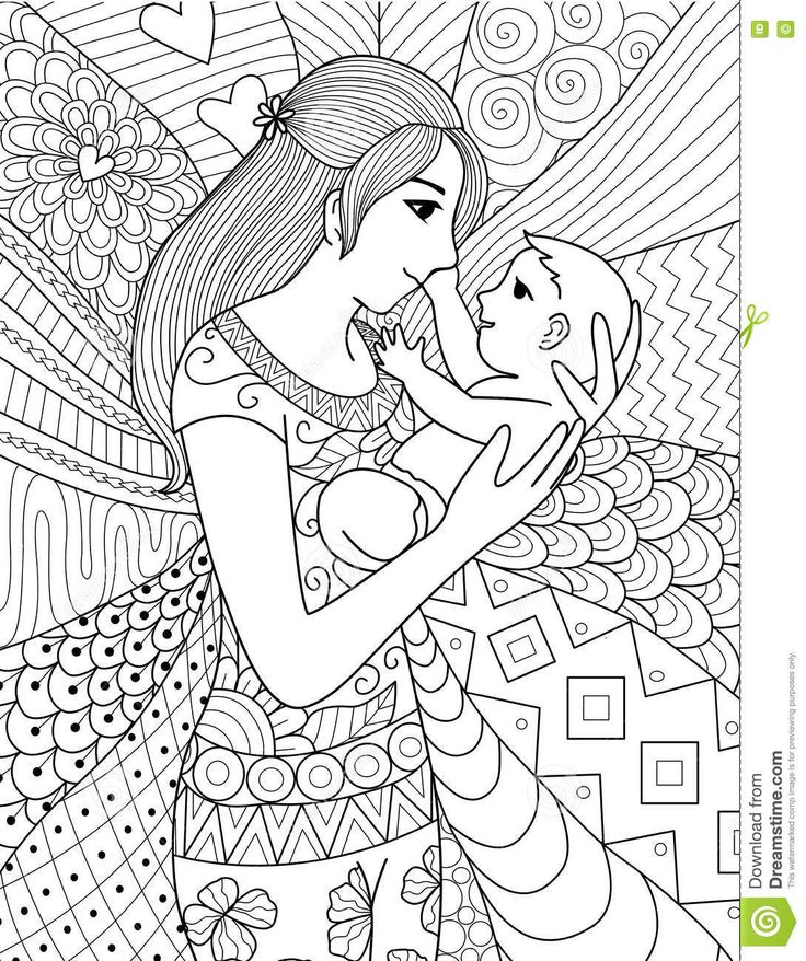 156 best coloring pregnant, baby, mariage, familie images on - best of coloring pages mom and daughter