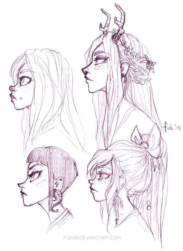 doodles - Chelle by Fukari on deviantART.. cute girl with antlers
