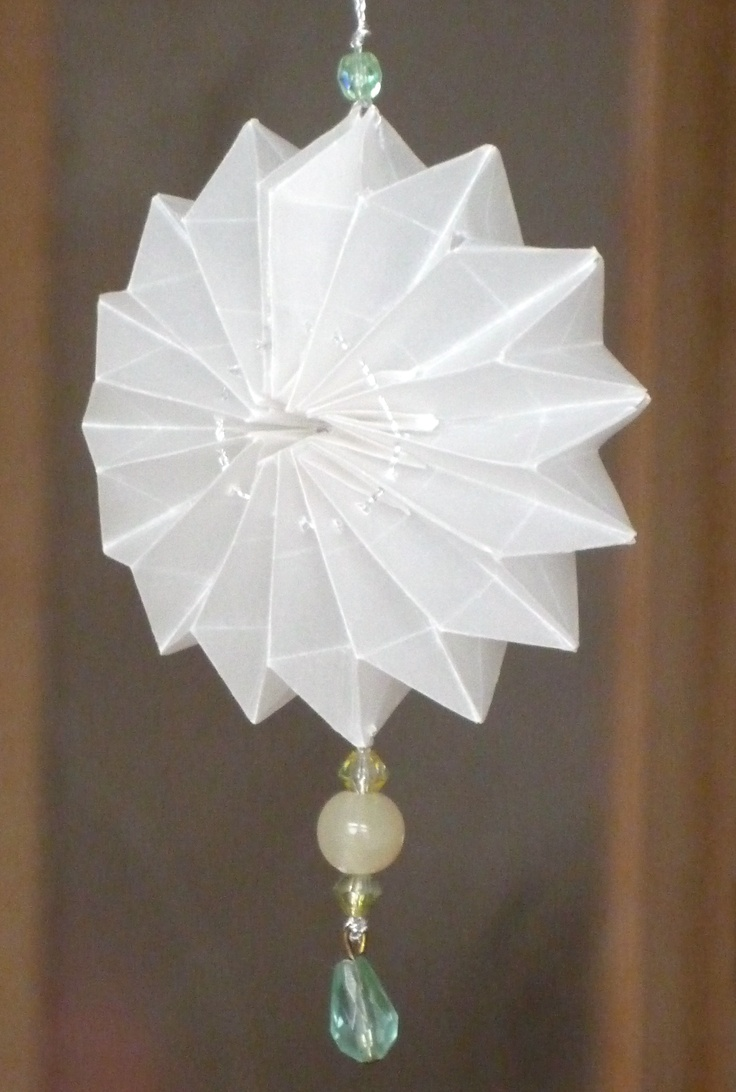 Mini-Lampion aus Architektenpapier  4x4 cm