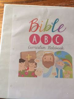 Homestead Bounty Blessings: Bible ABC Curriculum Notebook REVIEW Need a fun preschool option for teaching your little one the alphabet and scripture to boot?  The Bible ABC Curriculum Notebook is a simple cost effective solution.  There is so much packed into this downloadable curriculum. You get letter recognition, writing, copywork, cutting and pasting, matching games, counting games, coloring, and bible memorization. #hsreviews, #CraftyClassroom, #HomeschoolCurriculum