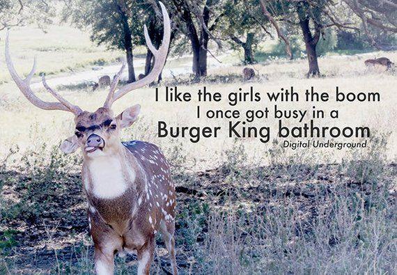 Burger King Boom Digital Underground Rap Photography Etsy Deer Print Wall Art Prints Underground