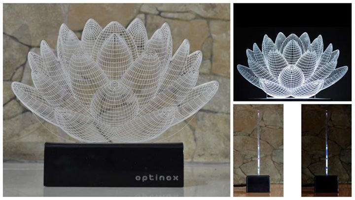 Optinox Illusion Lamp The Optinox is an innovative lamp that merges functionality and creativity. Optinox creates a 3D optical illusion by tricking the human eye into seeing something that is not real. It is actually completely flat but challenges our comprehension of space. It is made with an acrylic sheet design and a high standard LED light set which meets the highest standard of electronics lasting upto 50,000 hrs. With its compact size, this optical illusion lamp is the perfect utility…