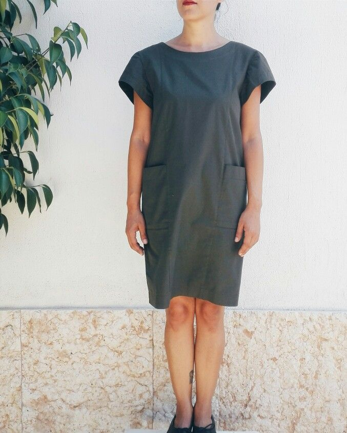 Minimal dress #90s #vintage #dress 100%cotton , one size S_M  €28,00