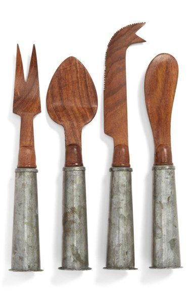 Thirstystone Wood & Galvanized Iron Cheese Knives (Set of 4) available at #Nordstrom