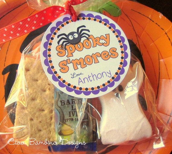Spooky S'Mores Halloween Party Favor Tags by Ciao Bambino on Etsy, $6.00