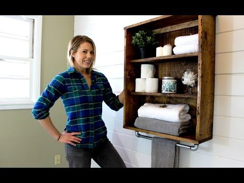 The $20 Rustic Bathroom Cabinet - DIY Project
