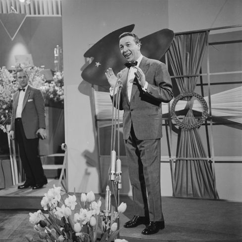 """André Claveau- Winner Eurovision Song Contest 1958 - representing France with song """"Dors, mon amour""""."""