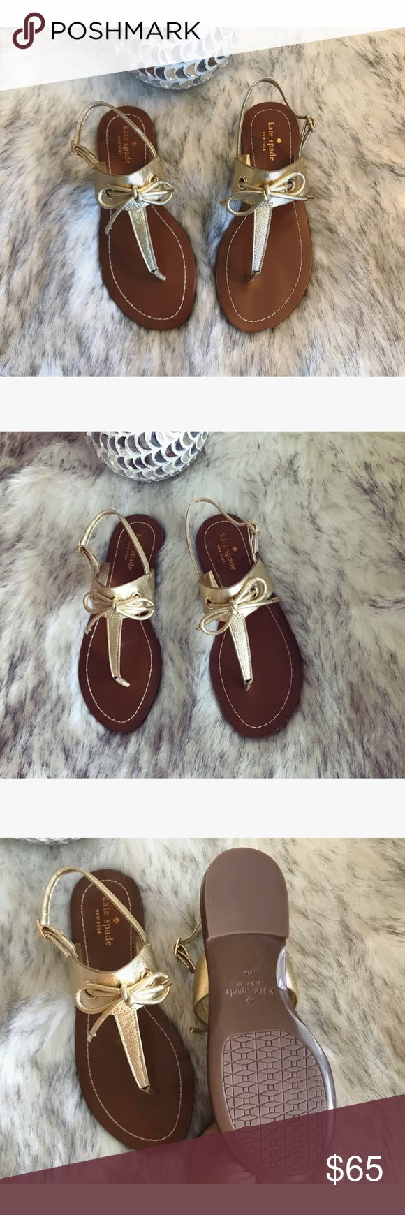 FINAL PRICE 🎀 Gorgeous Kate ♠️ Spade sandals 🎀 💝 Gorgeous Kate Spade sandals in gold, size 7.5 new never worn 💝 kate spade Shoes Sandals