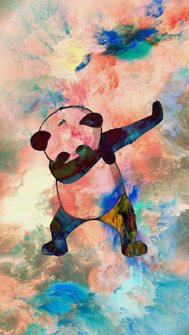 iPhone Dabbing Panda Wallpaper