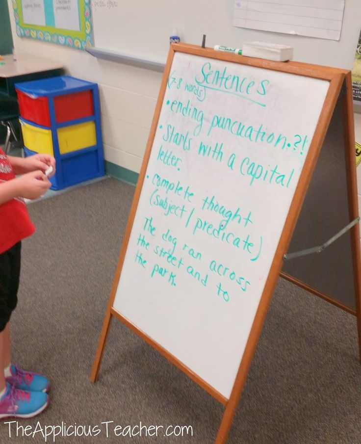 Discuss with kids why makes a good sentence